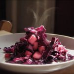 Warm Cabbage and Apple Slaw