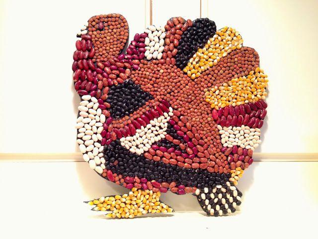 Turkey Bean Art