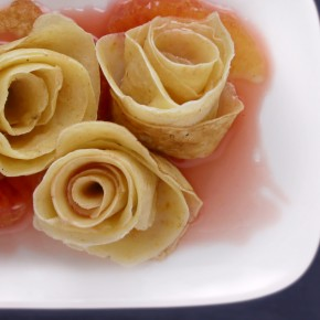 Crepe Roses With Blood Oranges And Cardamom