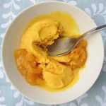 Curried Coconut Ice Cream with Mango Chutney