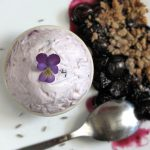 Lavender Blueberry Semifreddo