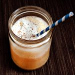 Pumpkin Ginger Smoothie (made with pumpkin scrapings)