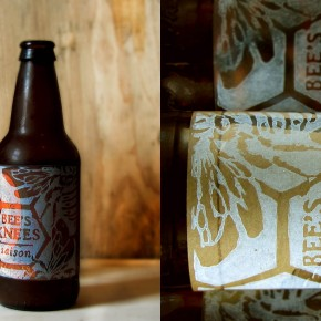 Block Printed Beer Labels