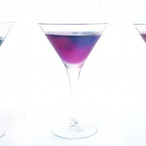 The Bangkok Blush (a color-changing cocktail)