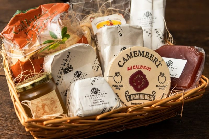 Pre-made gift baskets with customization