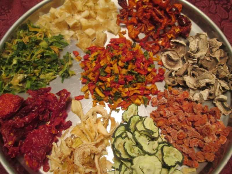 dehydrate vegetables